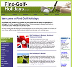 Find Golf Holidays
